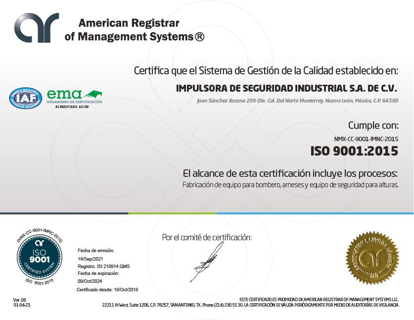 ARMS - Certificado 01.4 (QMS) v 2021 ISI 210914.QMS_____